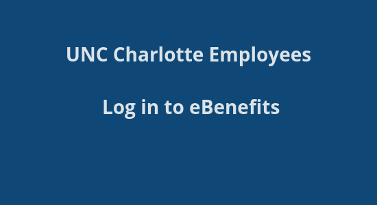 UNCC Benefits site login