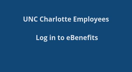 UNCC Benefits site login