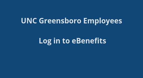 UNCG Benefits site login