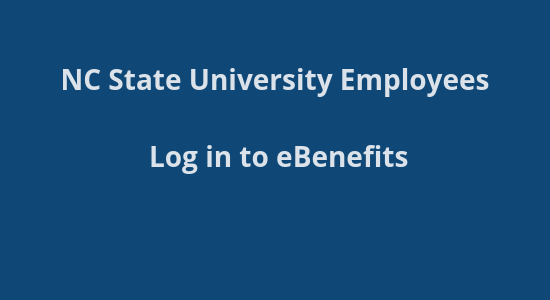 NCSU Benefits site login