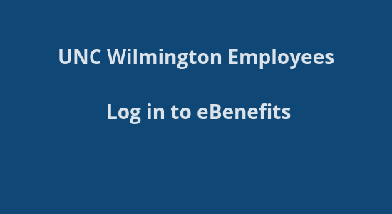 UNCW Benefits site login