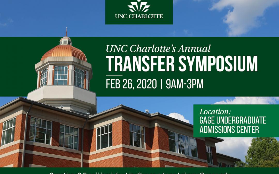 UNCC Transfer Symposium – 2-19-20